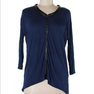 NWOT Zara 3/4 Sleeve Dark Blue Top